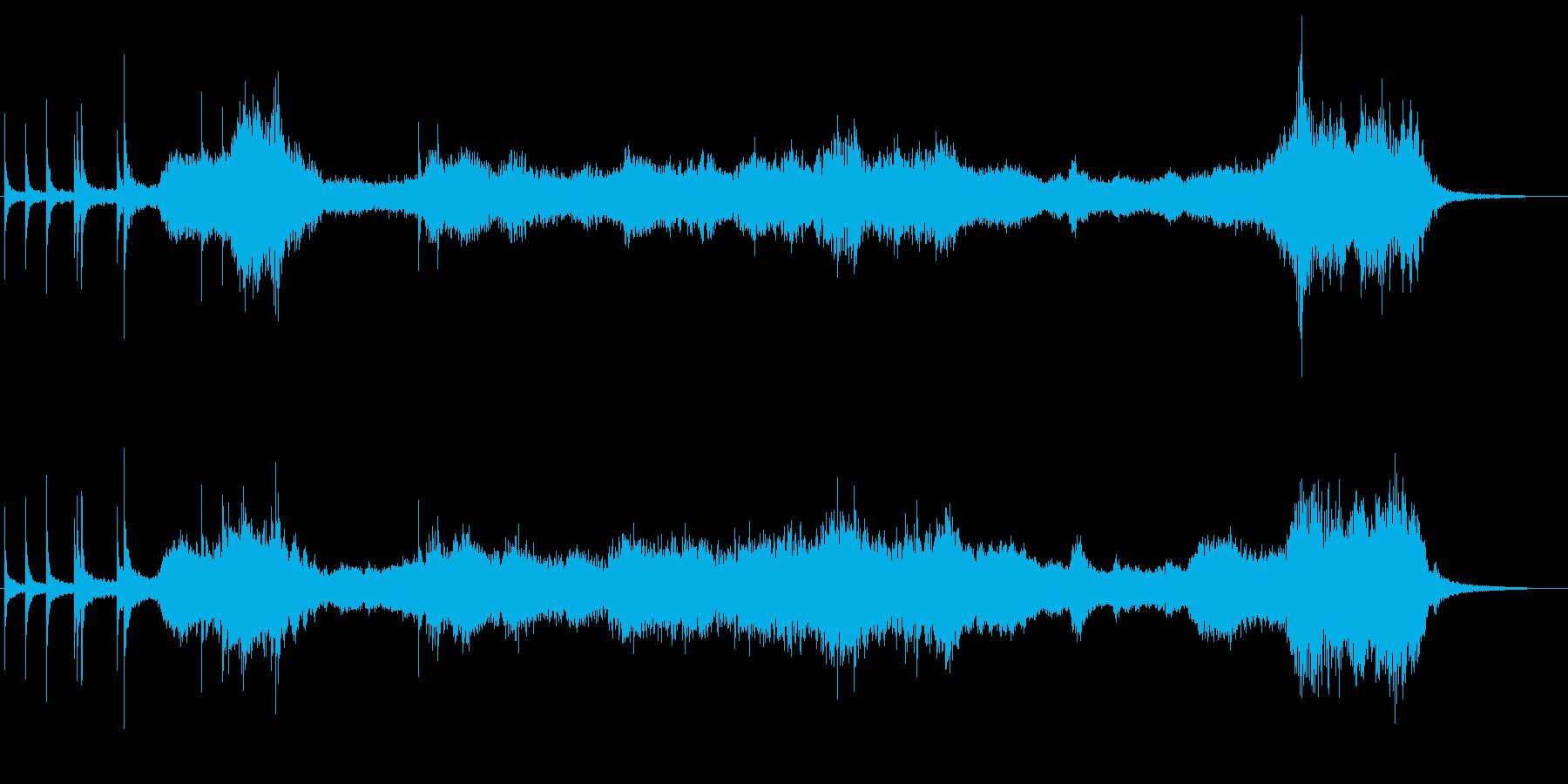 【映画風】不気味でホラーな雰囲気のBGMの再生済みの波形