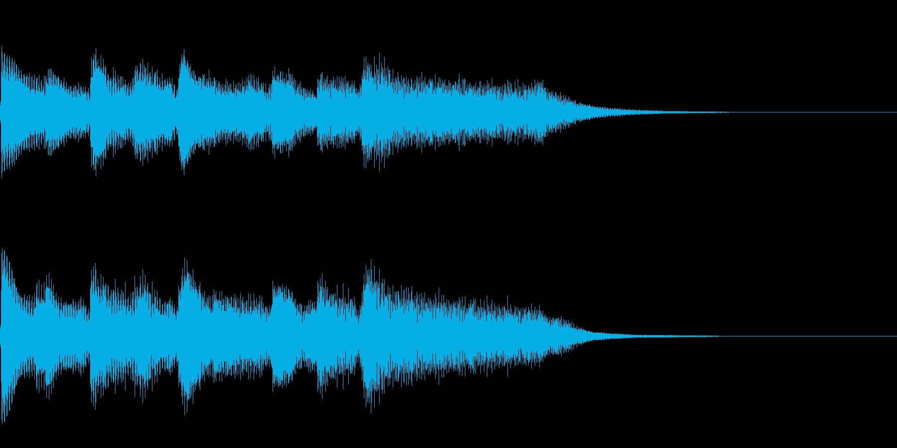 【宿屋・セーブポイント】休息ジングルの再生済みの波形