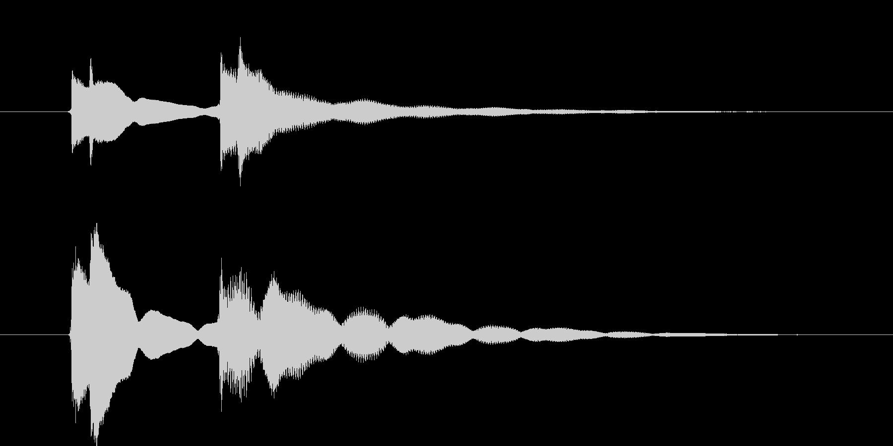 クイズ正解音(ピンポン)3の未再生の波形