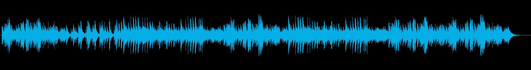 オルゴールのリラクゼーションミュージックの再生済みの波形