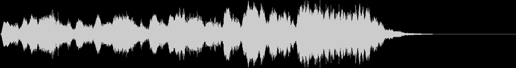 軽快なオーケストラ風ジングルの未再生の波形