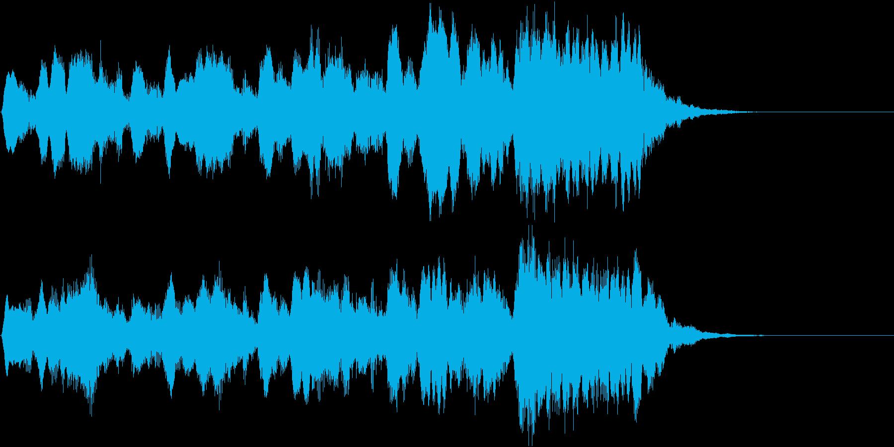 軽快なオーケストラ風ジングルの再生済みの波形