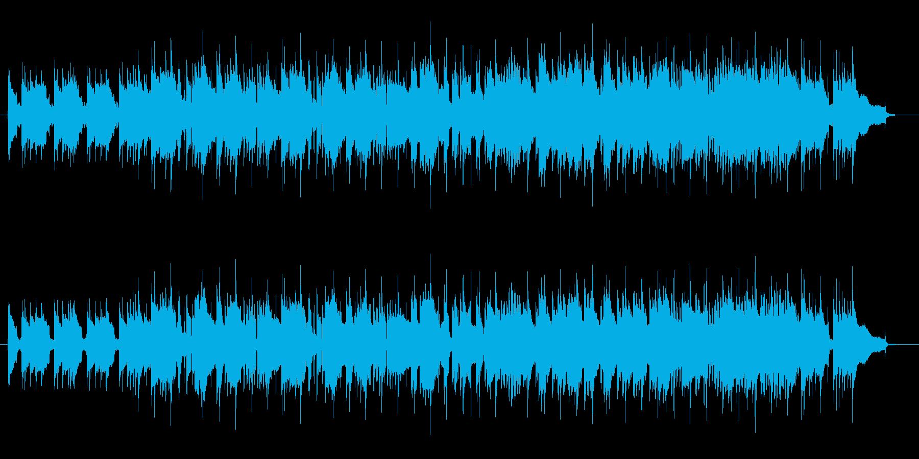 レトロなスローロックでサックスの曲の再生済みの波形