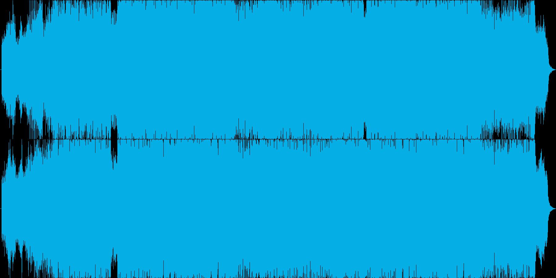 切ないメロディのゲーム戦闘用楽曲の再生済みの波形