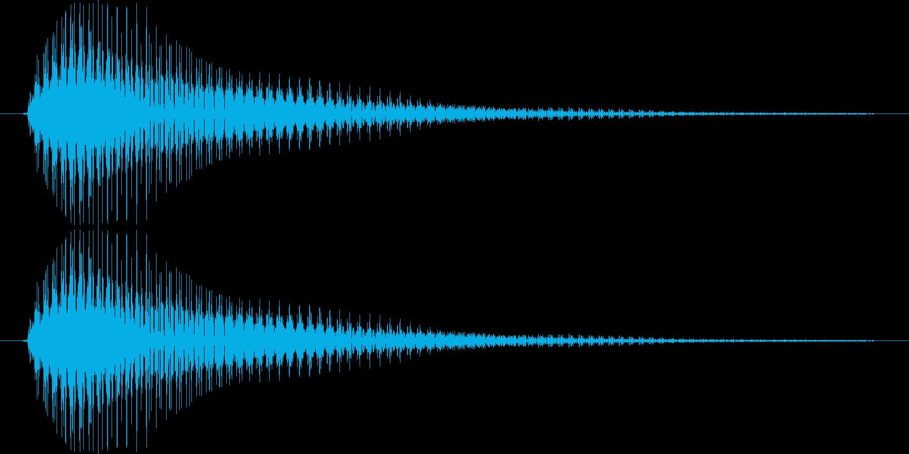 ライトセーバー風SE_素早く振る1の再生済みの波形