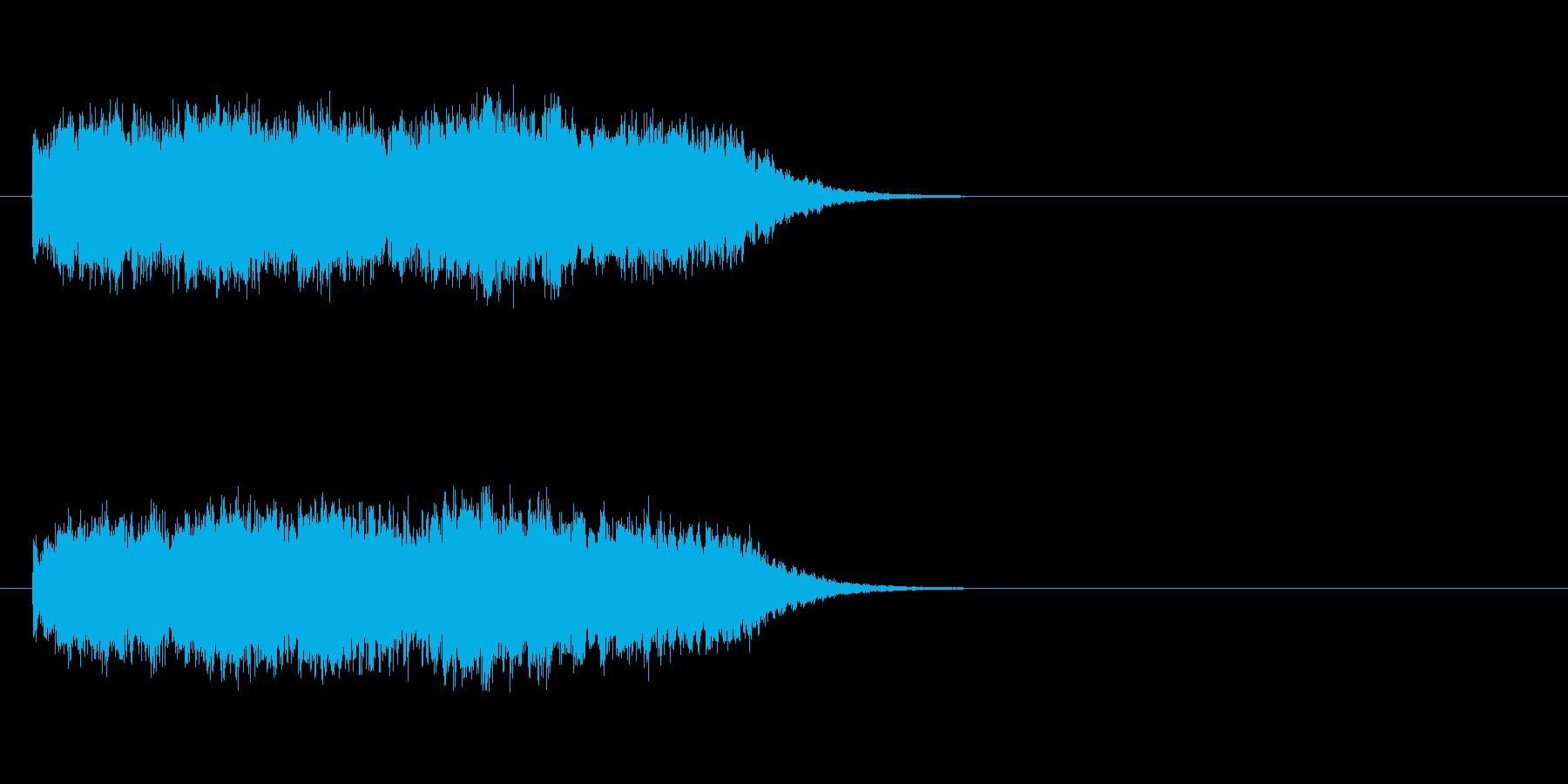 未来へ向うキラキラした明るいサウンドロゴの再生済みの波形