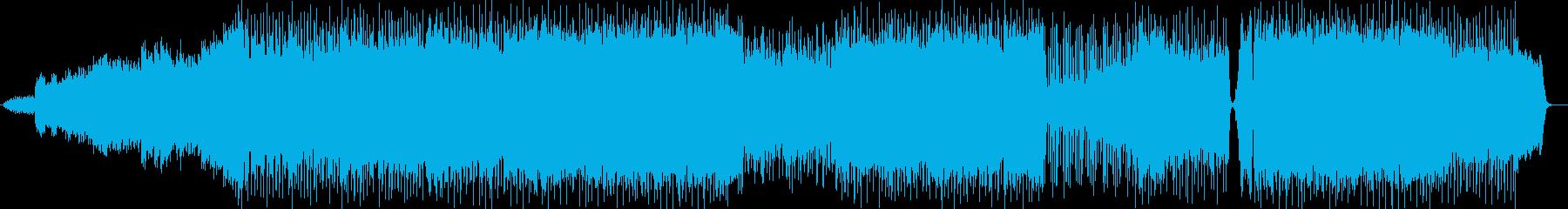 ワクワク感のあるシンセ・ギターサウンドの再生済みの波形