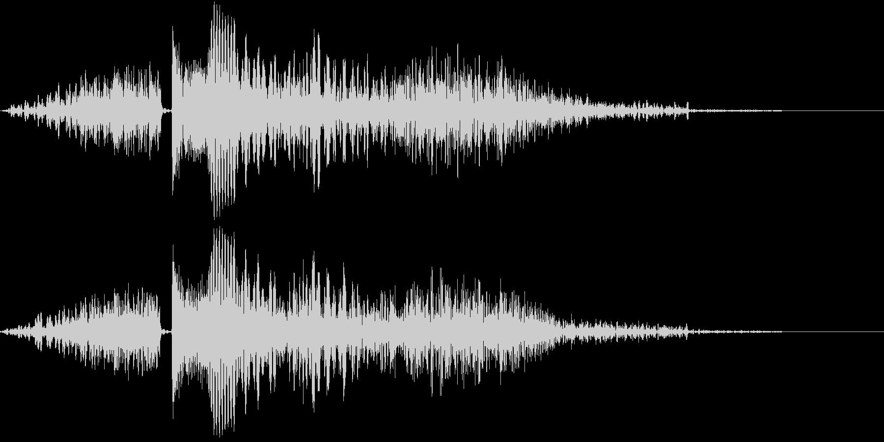 シューティング SFビーム発射音4の未再生の波形