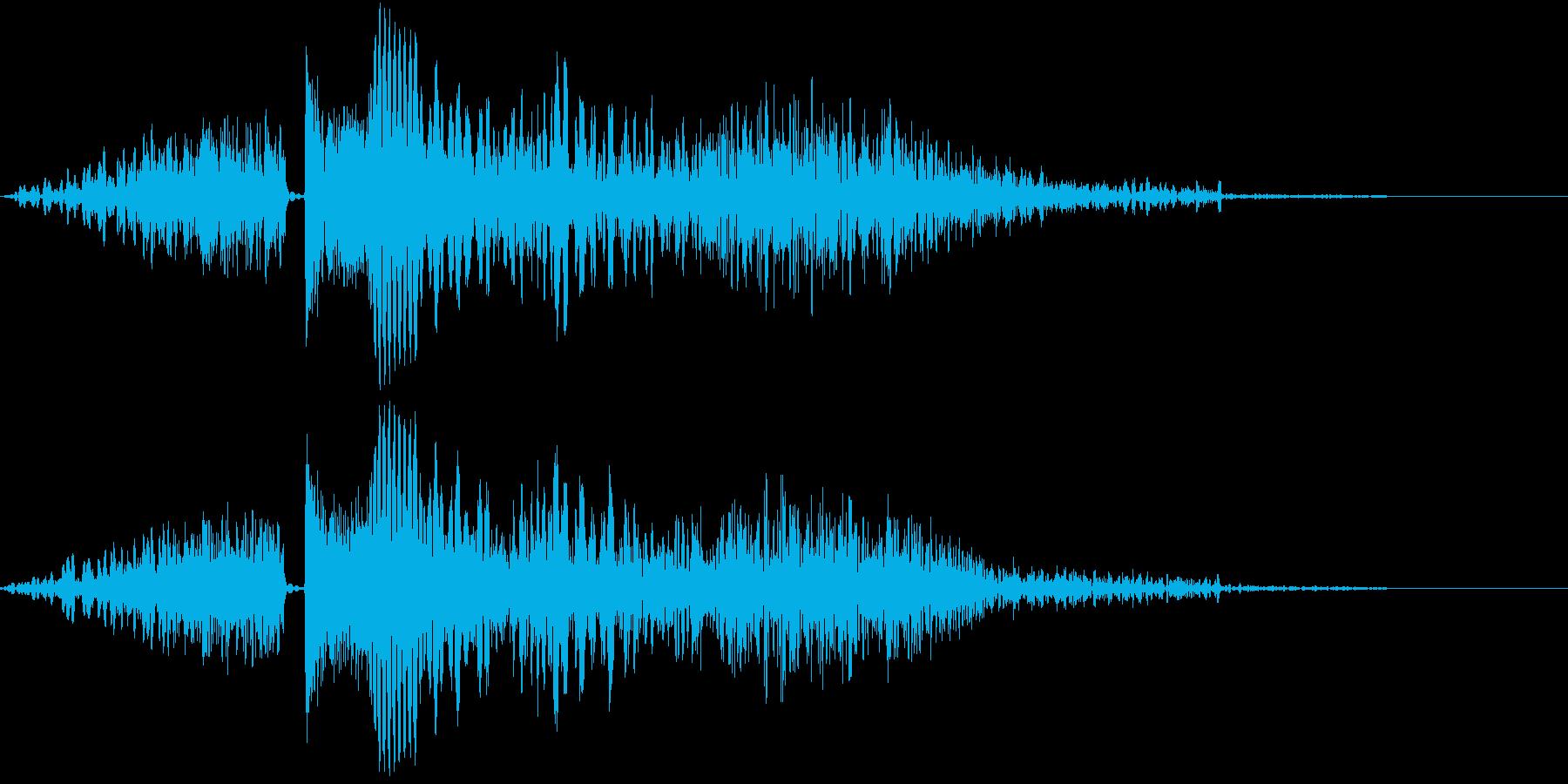 シューティング SFビーム発射音4の再生済みの波形