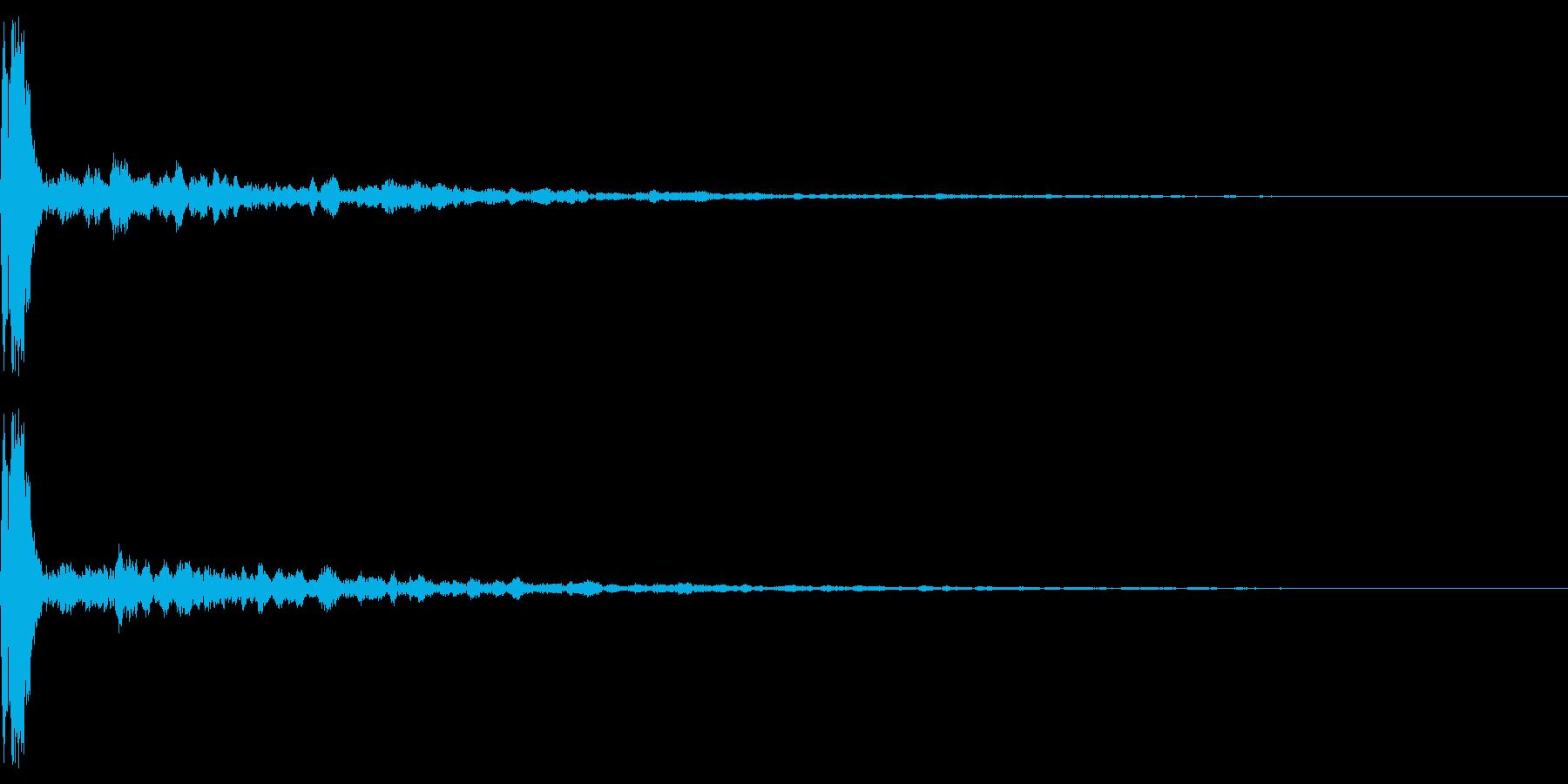 響くカーンの再生済みの波形