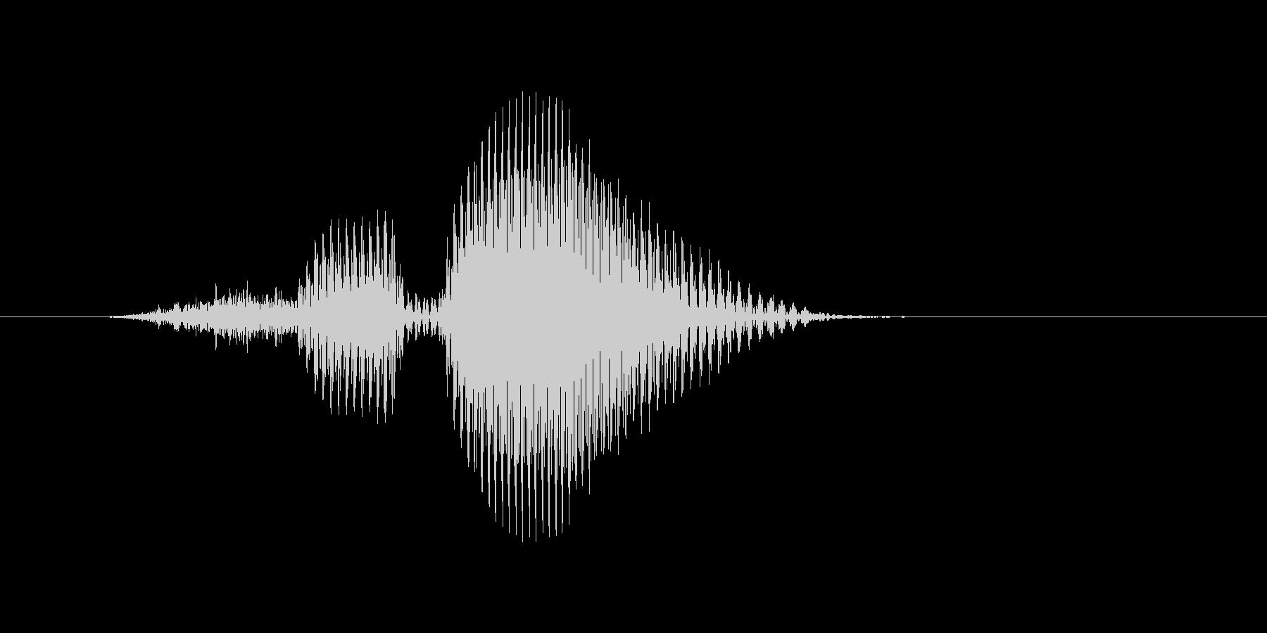 スルーの未再生の波形