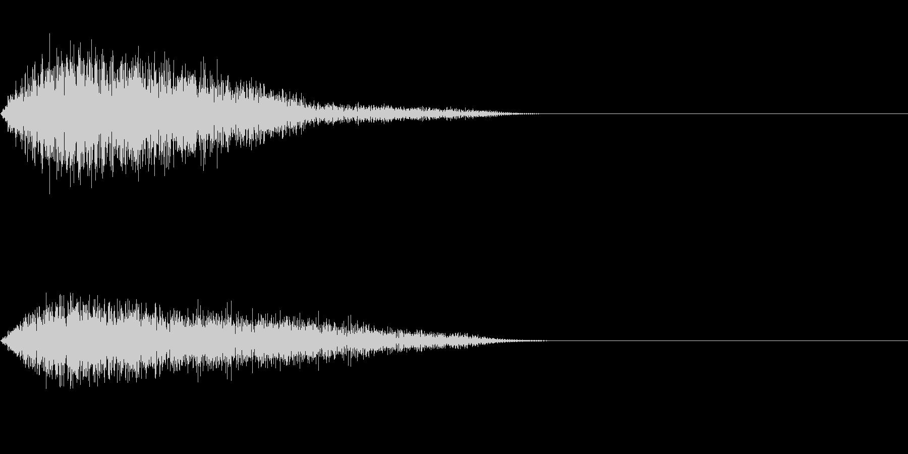 シンバル系フランジ済ワンショットの未再生の波形