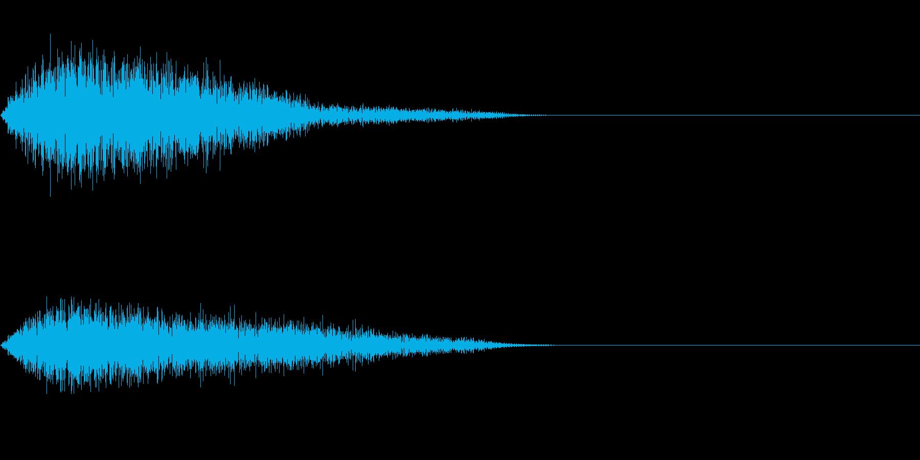 シンバル系フランジ済ワンショットの再生済みの波形