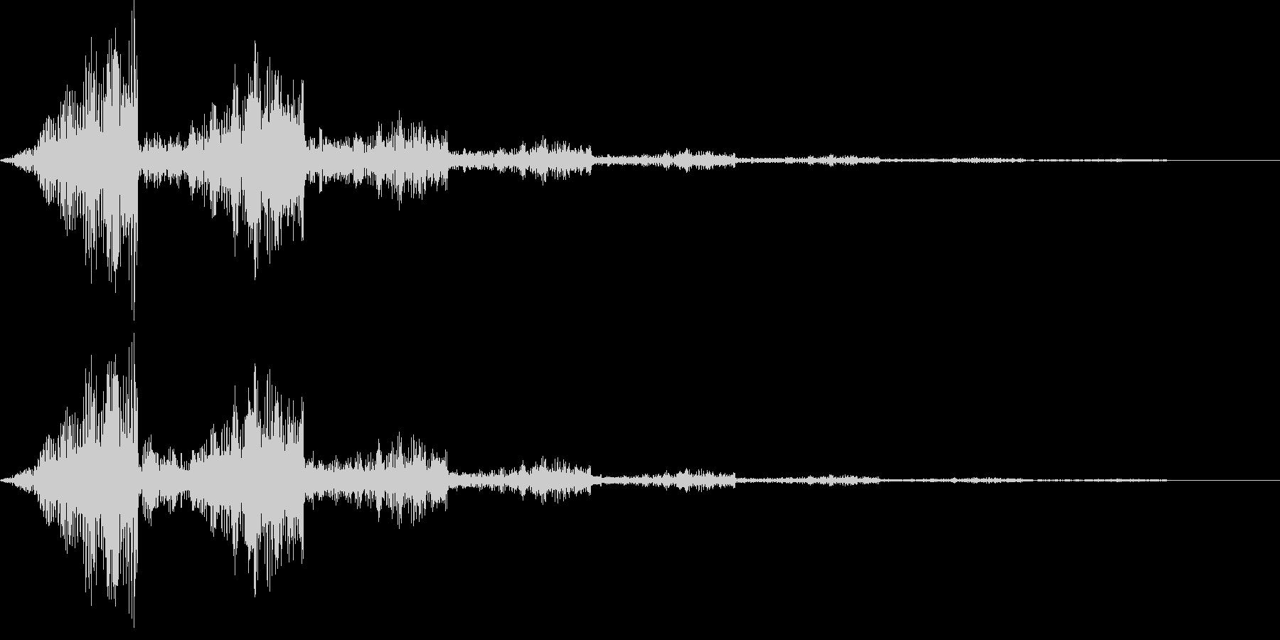 不気味な通過音の未再生の波形