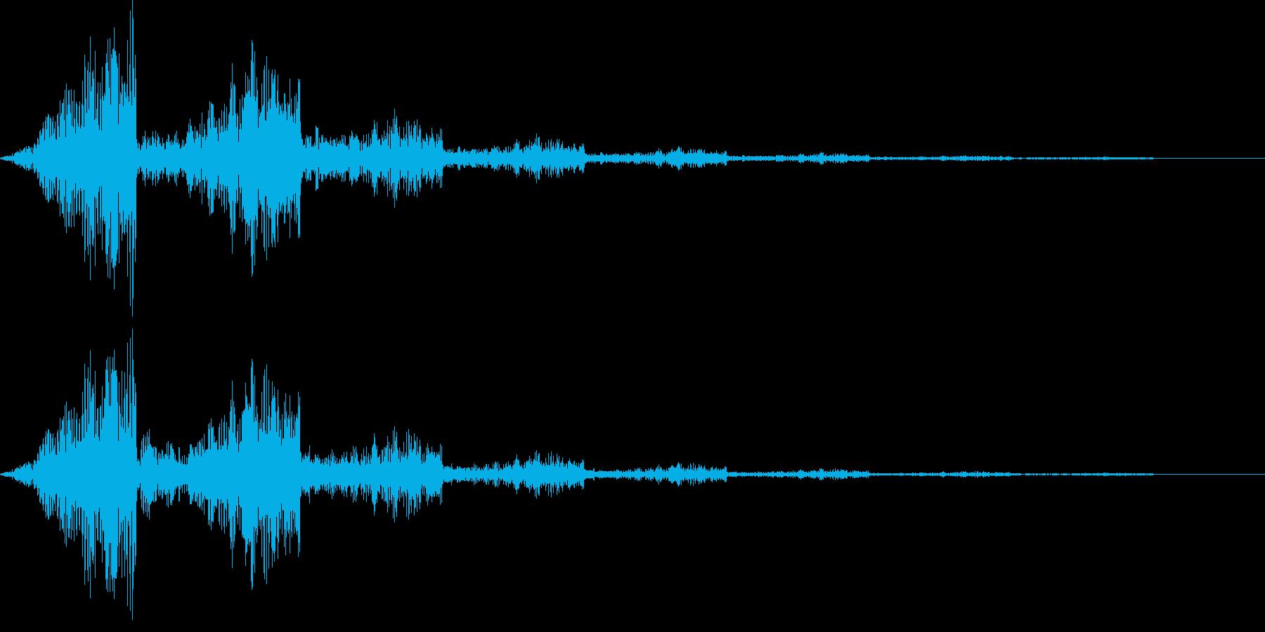 不気味な通過音の再生済みの波形