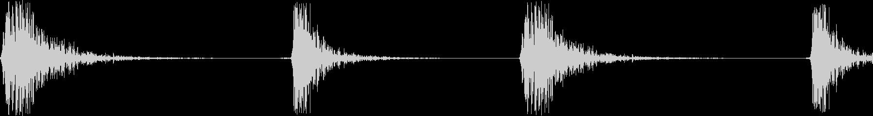 カチカチッ(マウスのダブルクリック音)の未再生の波形