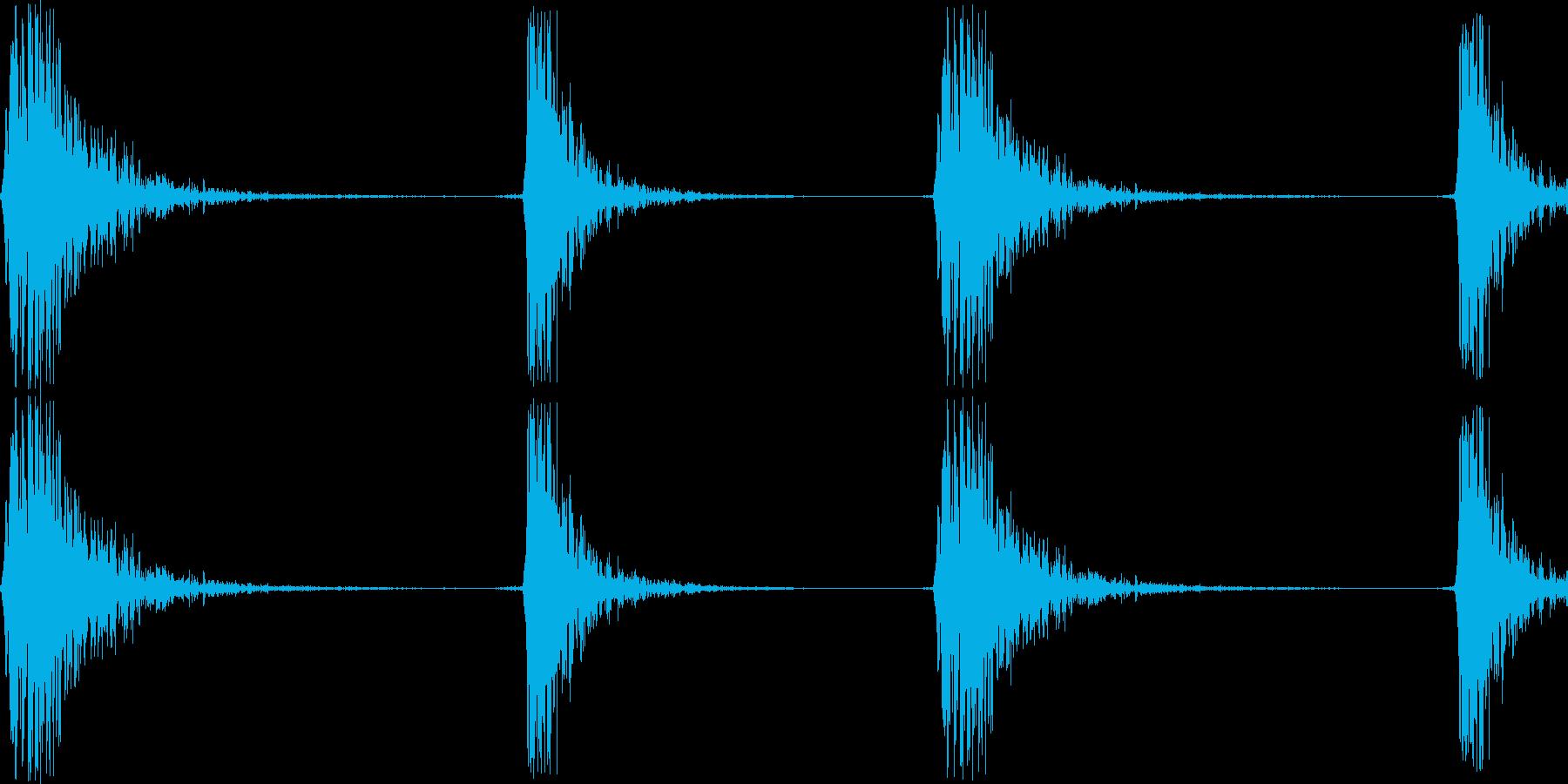 カチカチッ(マウスのダブルクリック音)の再生済みの波形