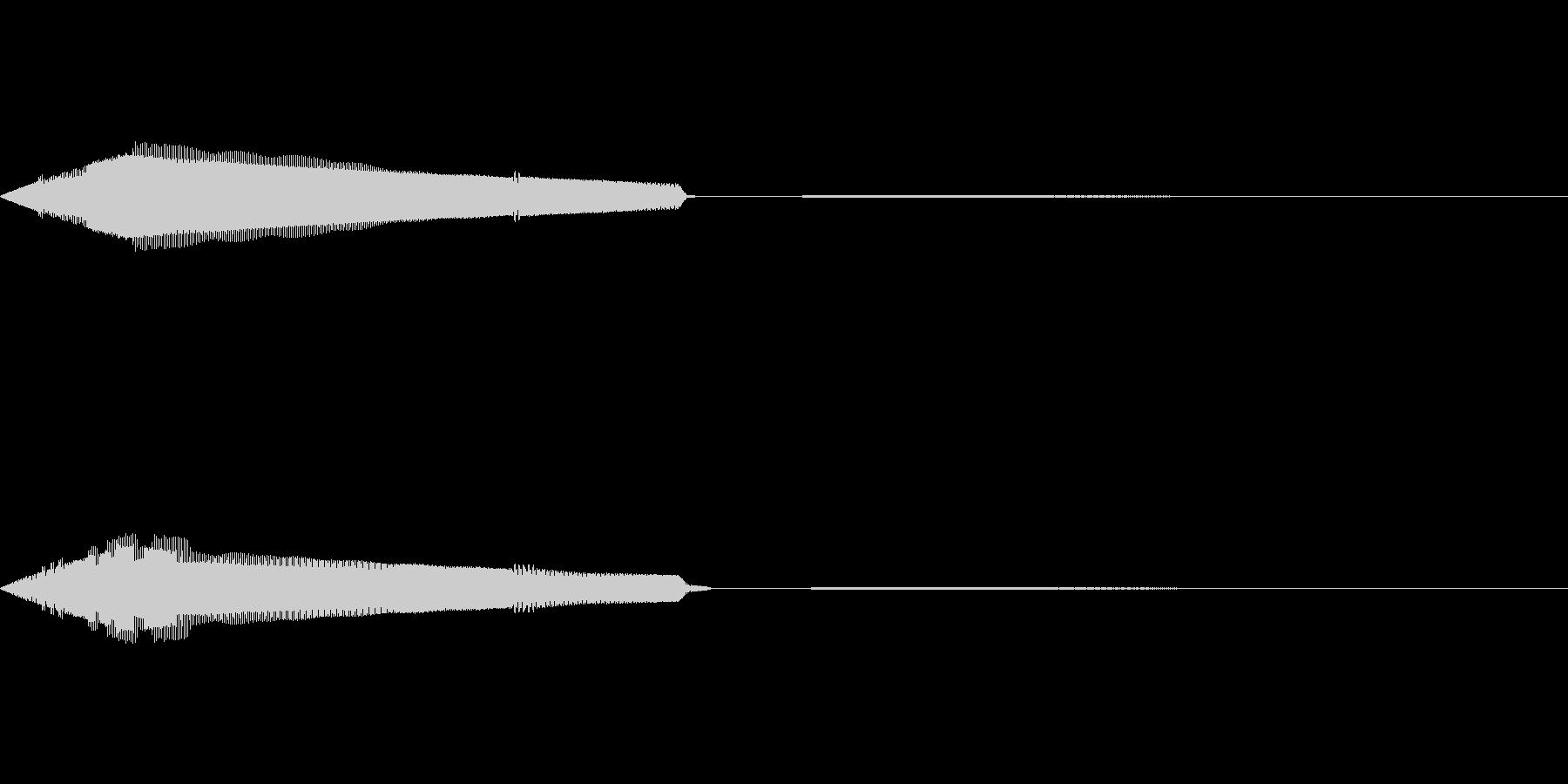 選択(8bit風)の未再生の波形