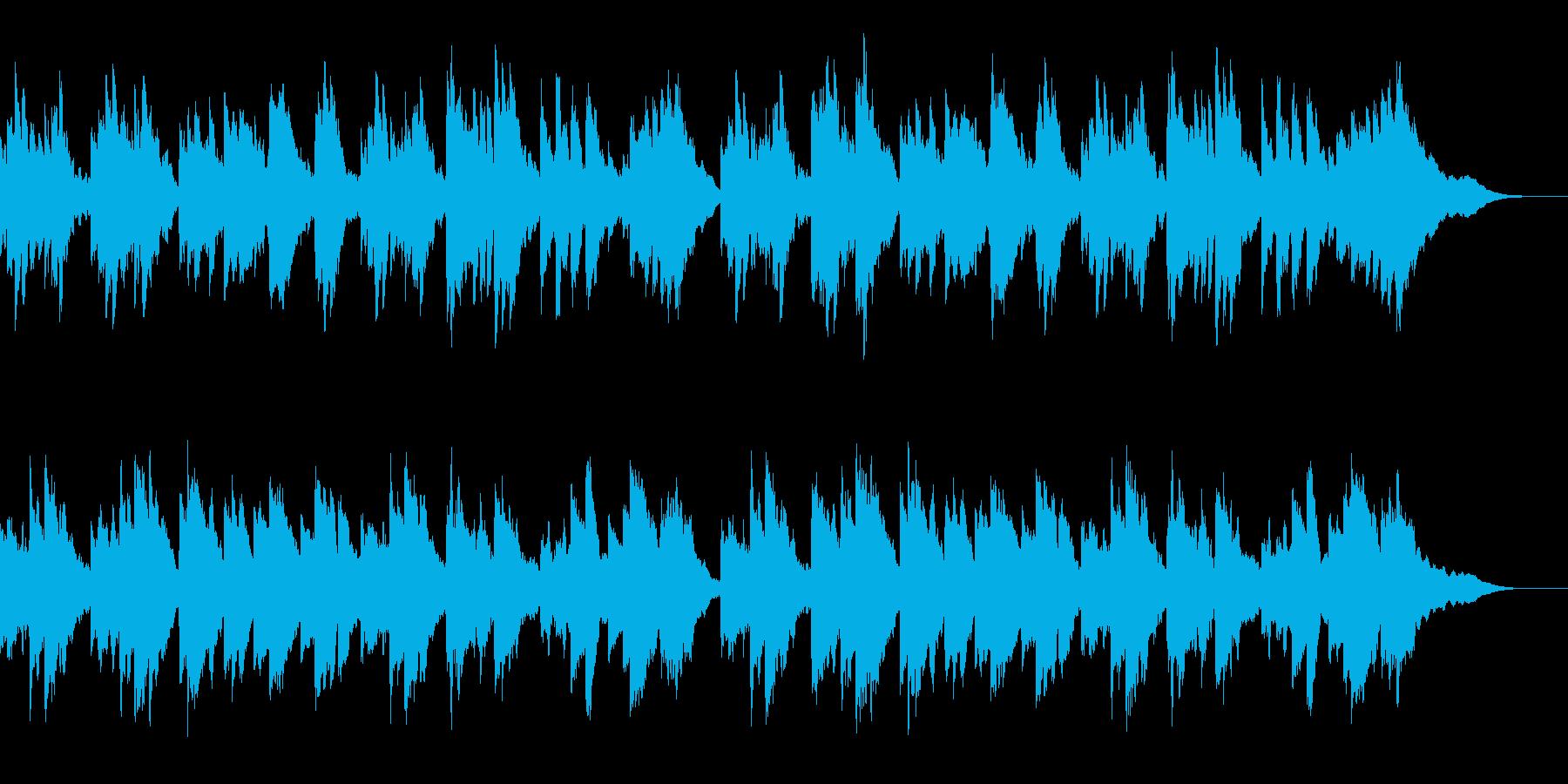 プラネタリウムをイメージしたピアノソロ曲の再生済みの波形