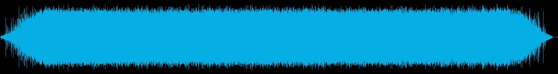 ザアアア(雨・庇の下)の再生済みの波形