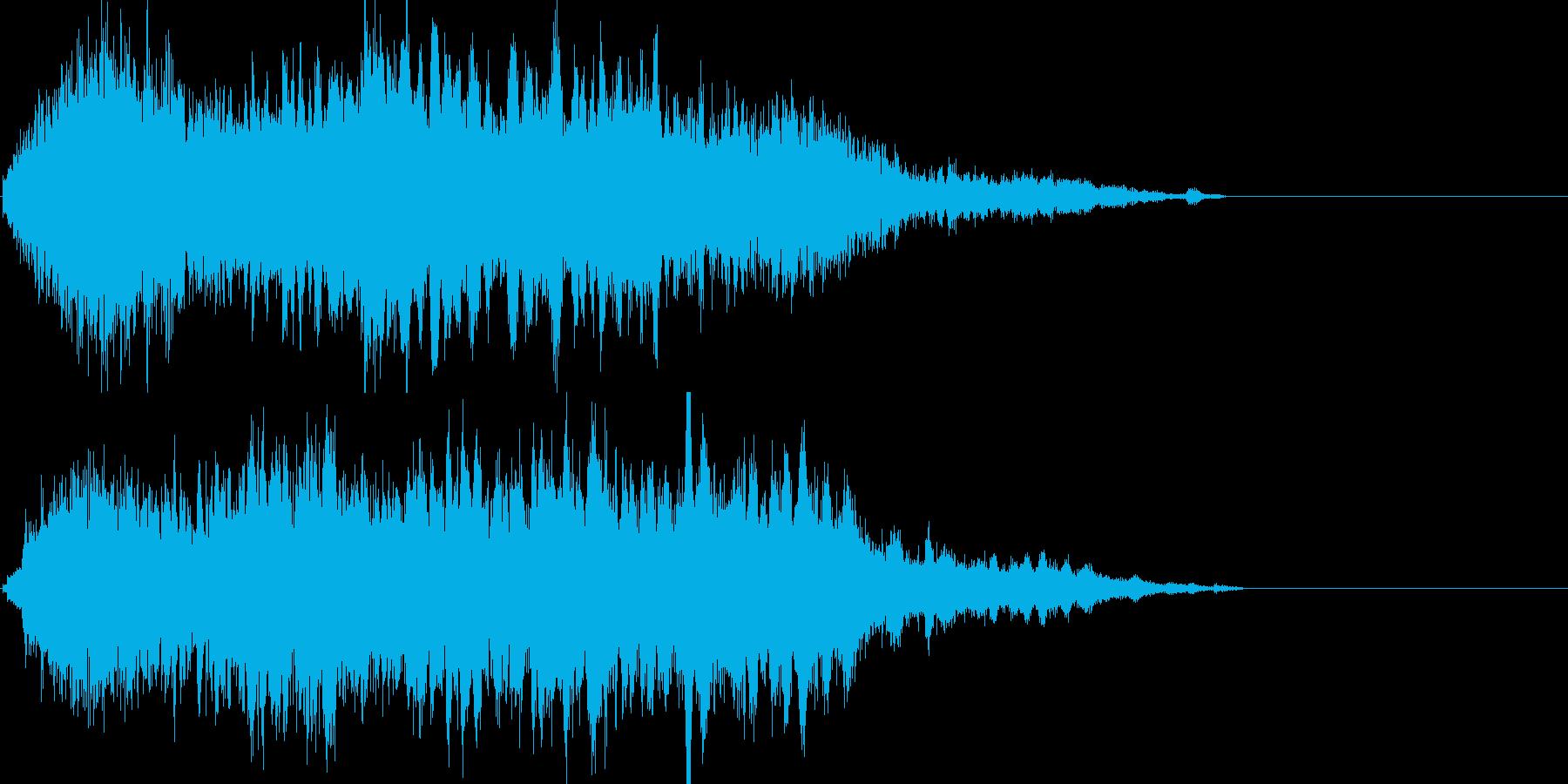 魔法05(攻撃・風・発動・飛ばす系)の再生済みの波形