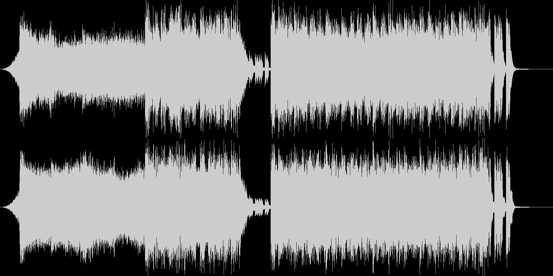 4つ打ちデジタルサウンドの入場SEの未再生の波形