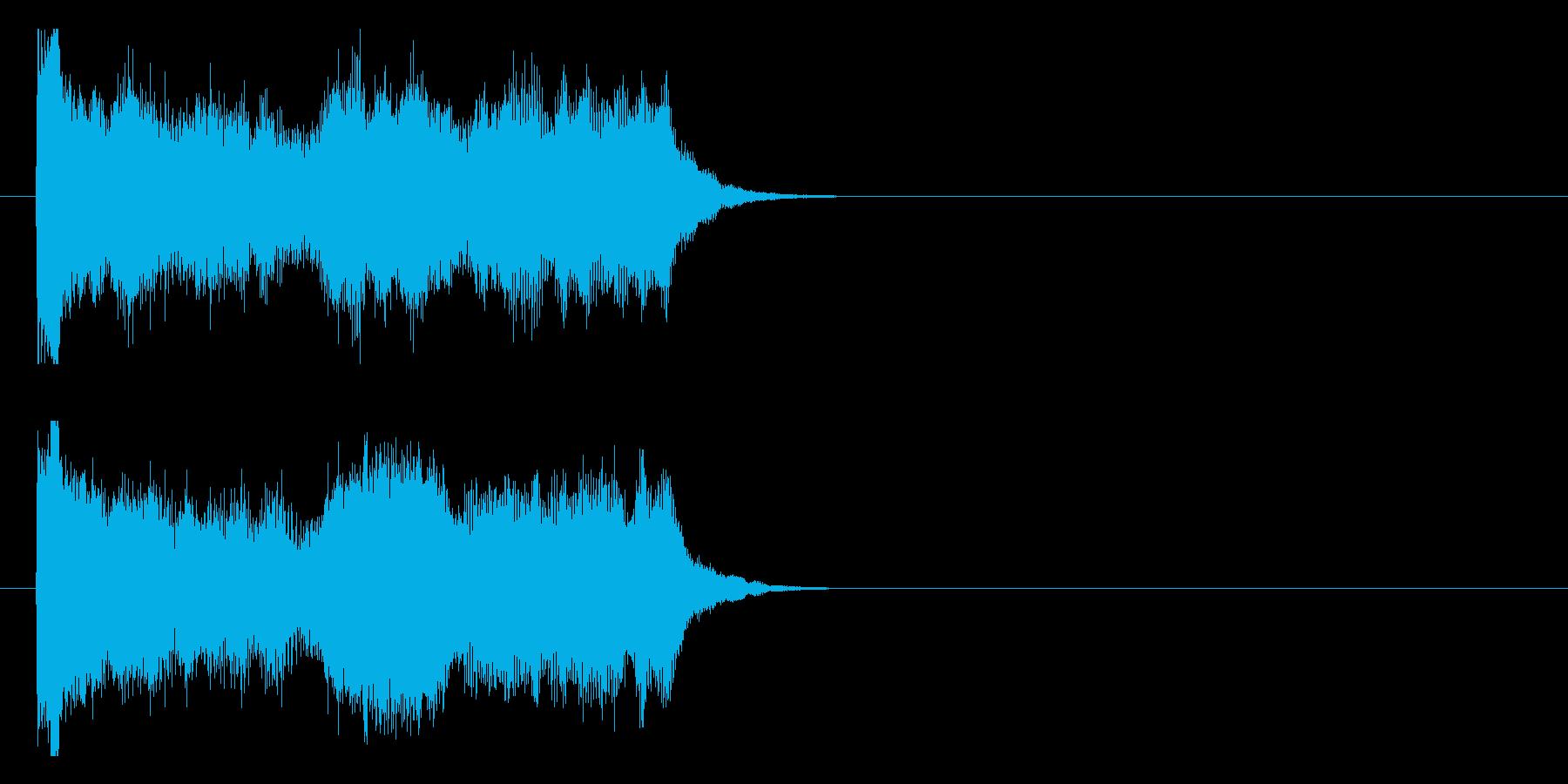 自然の神秘を表現した幻想的なジングルの再生済みの波形