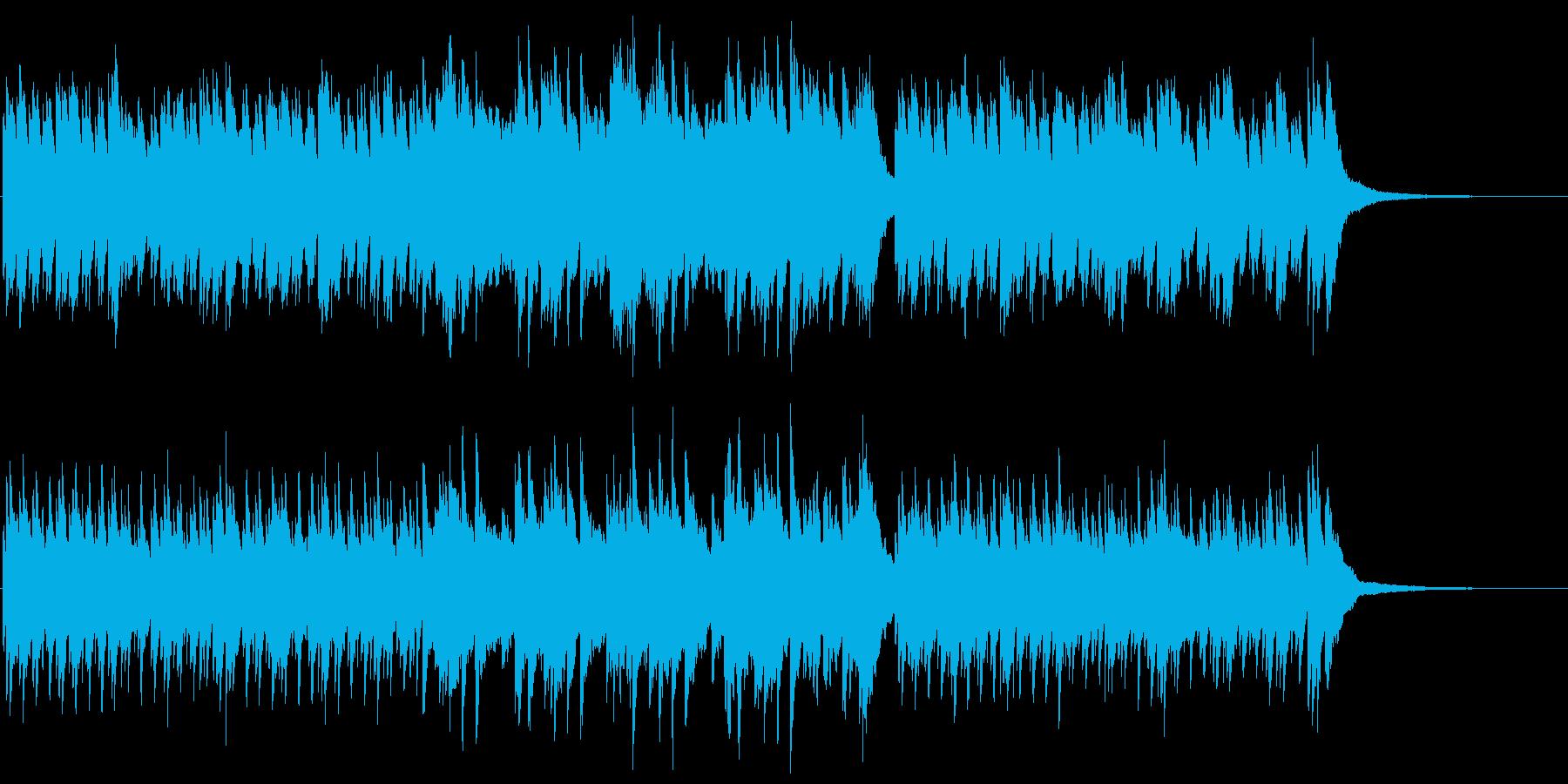 穏やかな海のイメージのピアノの再生済みの波形