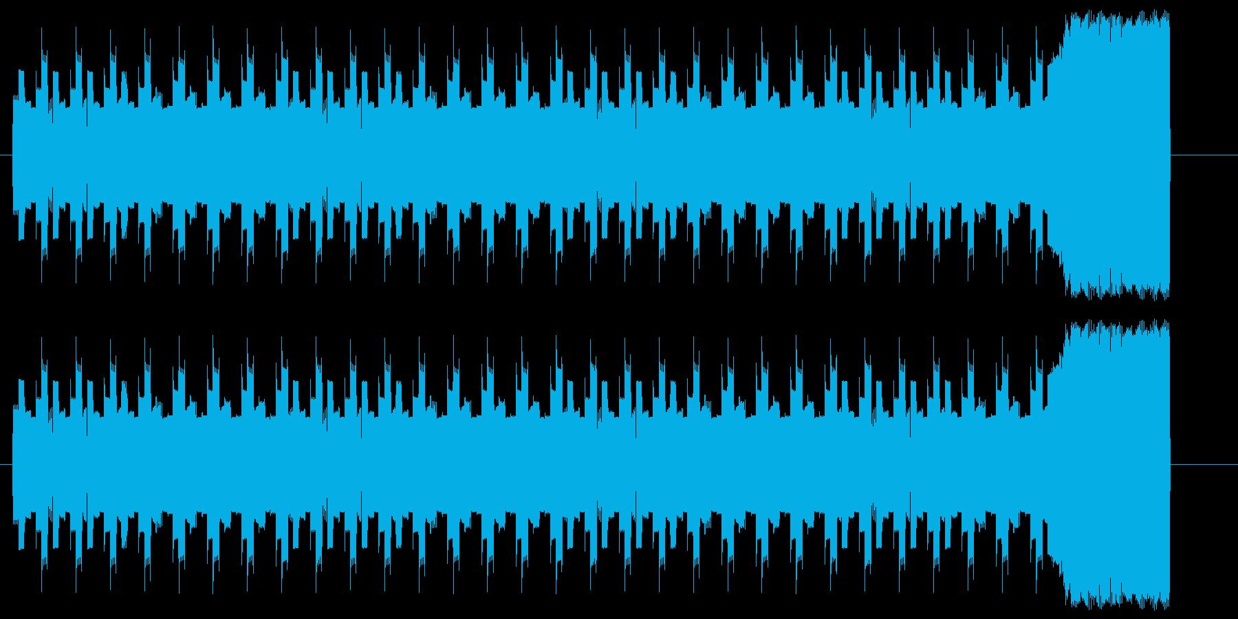 警告やアラームを電子音で鳴らしたSEですの再生済みの波形