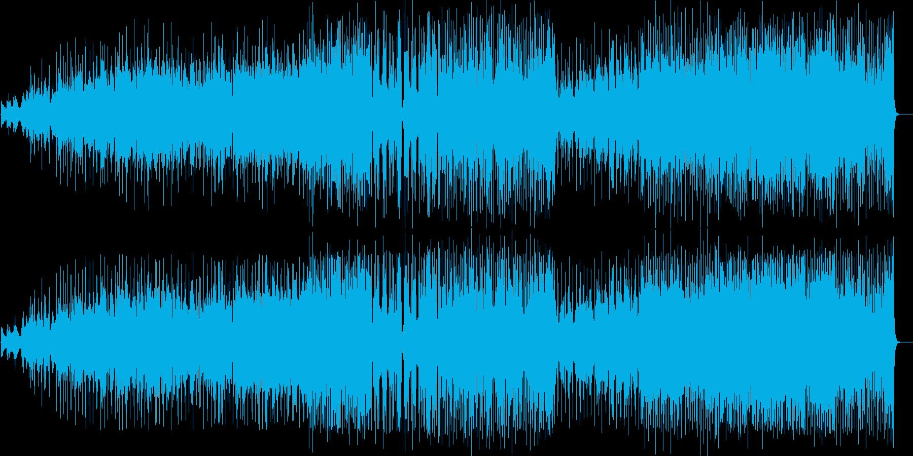 アーシーな雰囲気を漂わせたアンサンブルの再生済みの波形