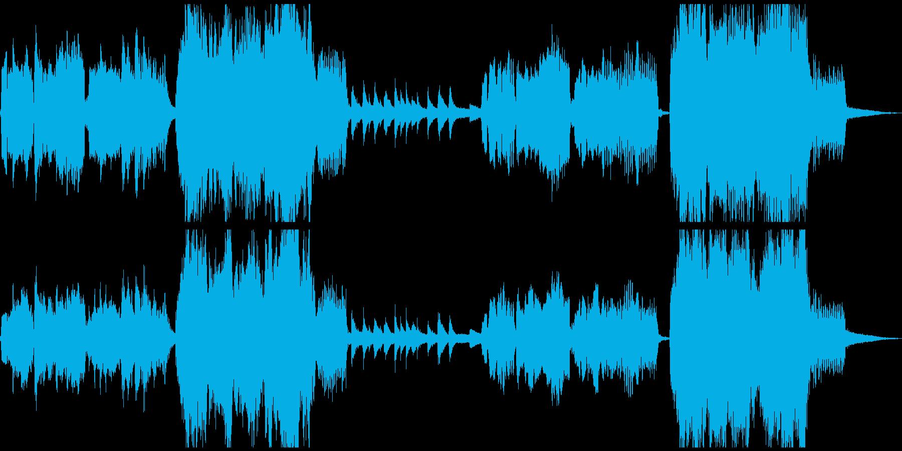 和風、伝統的で厳格な雰囲気に最適な曲の再生済みの波形