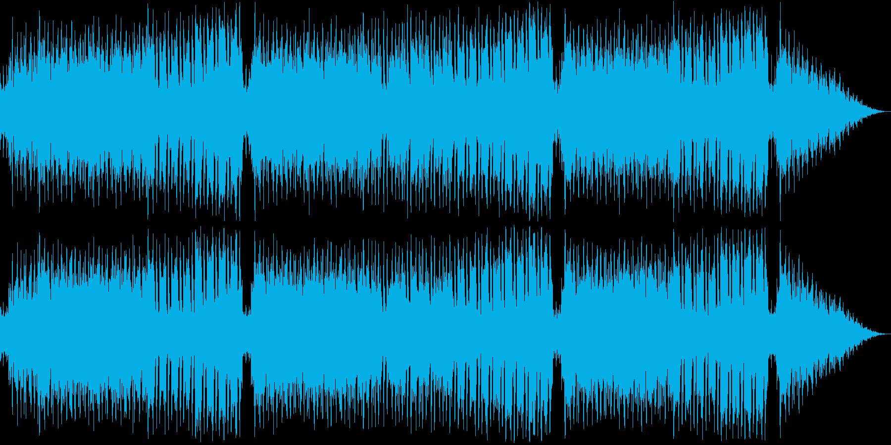 レトロ風な戦闘曲の再生済みの波形