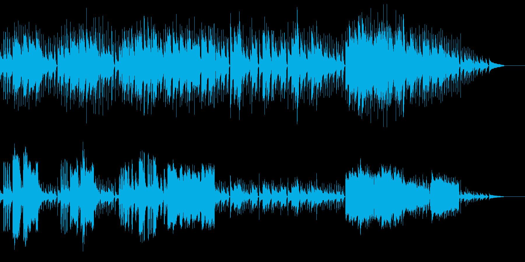 ギターとフルートのさりげないボサノヴァの再生済みの波形