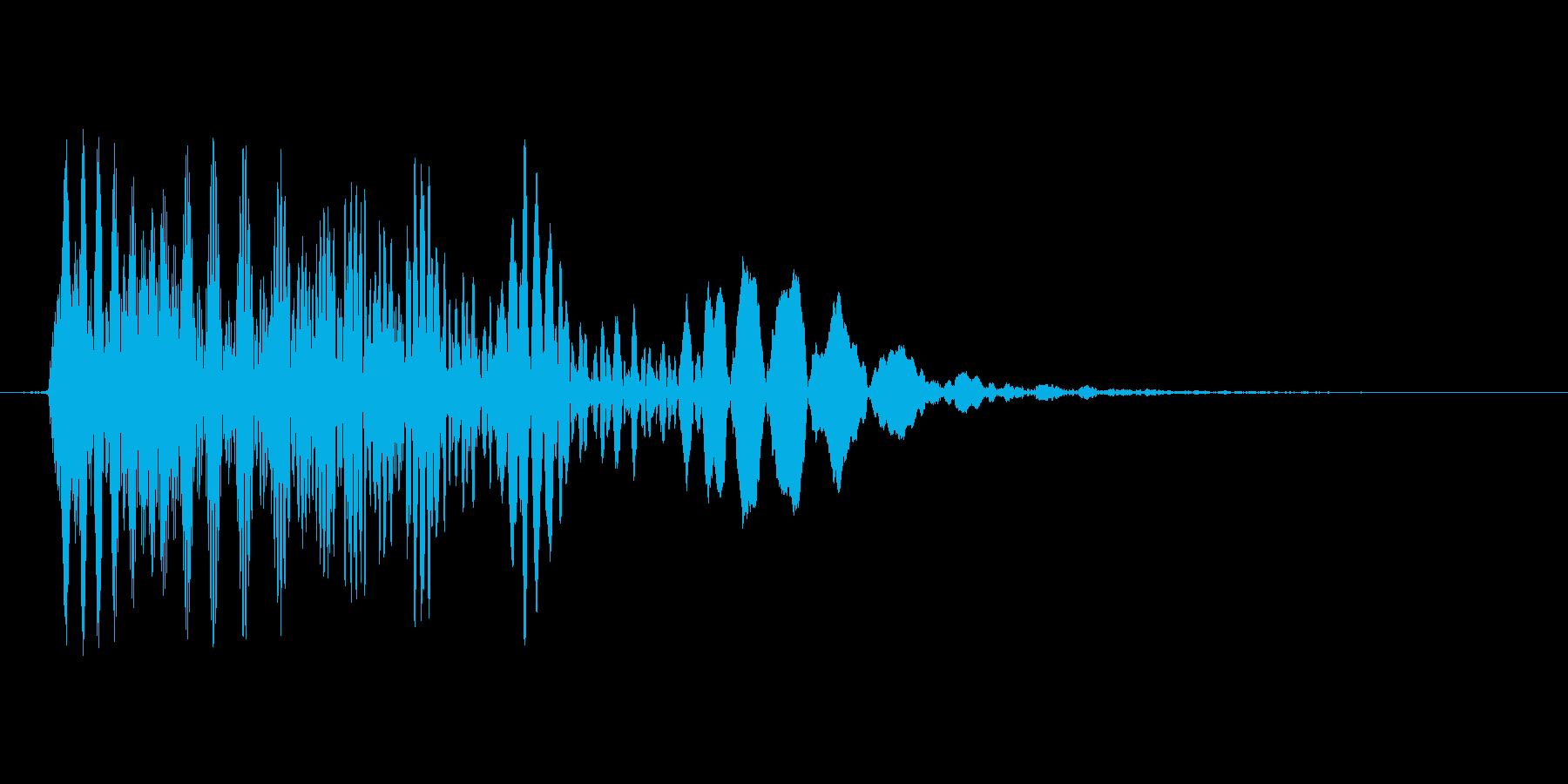 レトロ.ファミコン風効果音 下降音の再生済みの波形