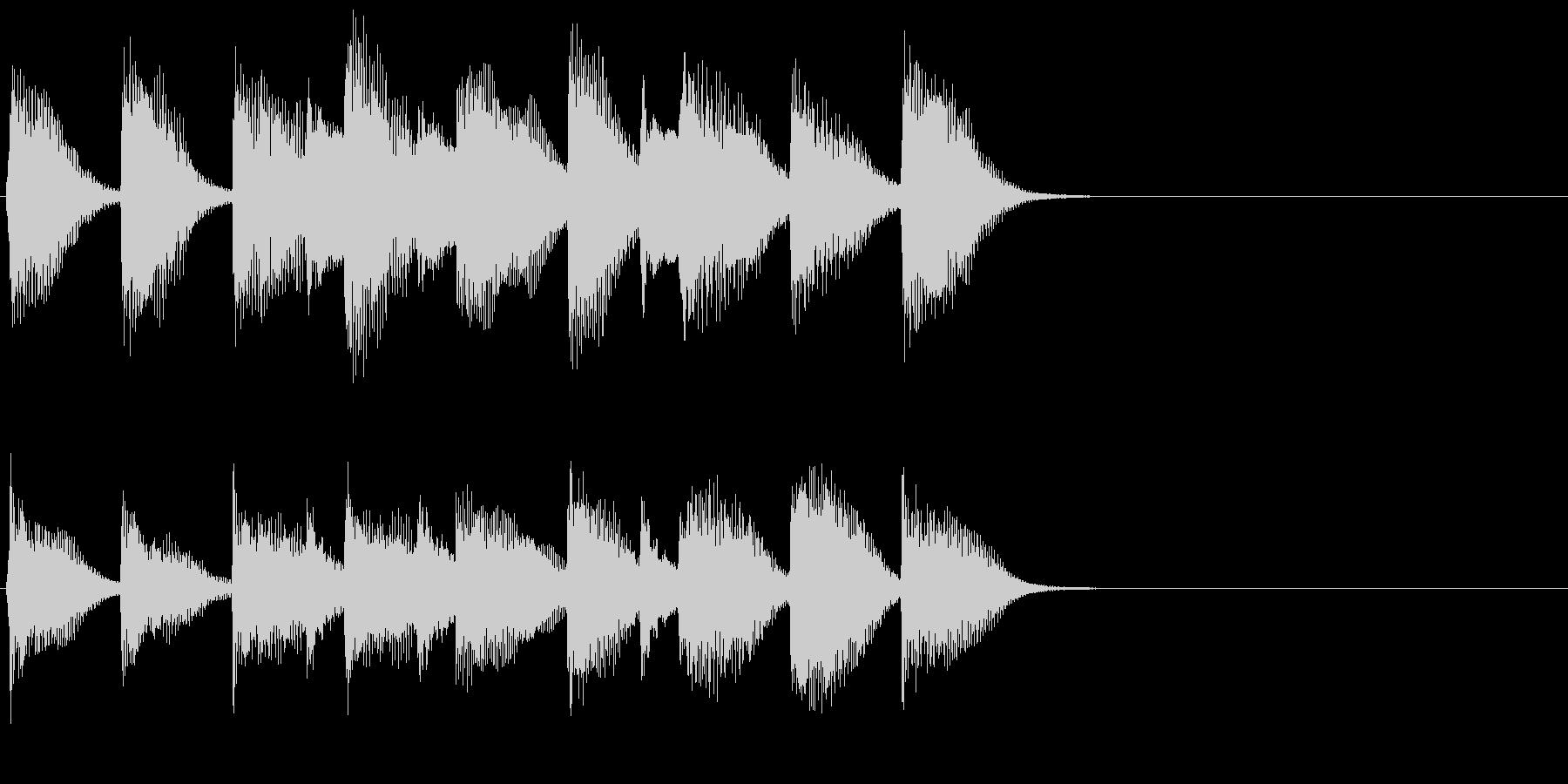 ピアノ ジングル06 穏やかな日常の未再生の波形