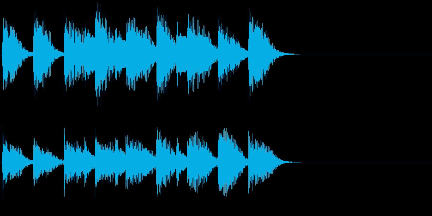 ピアノ ジングル06 穏やかな日常の再生済みの波形