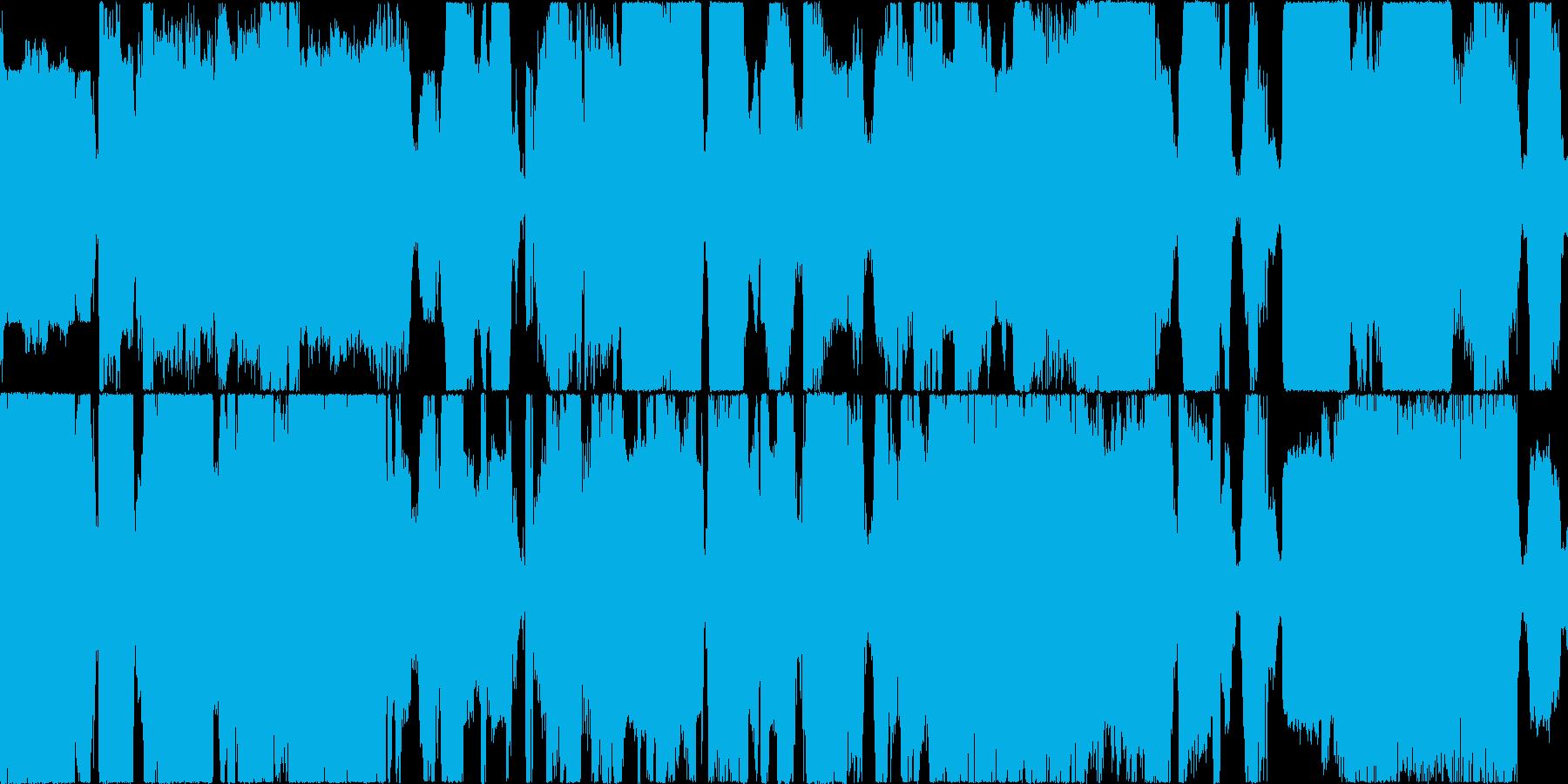 ウィーンガガガ。工事現場の音(長め)の再生済みの波形