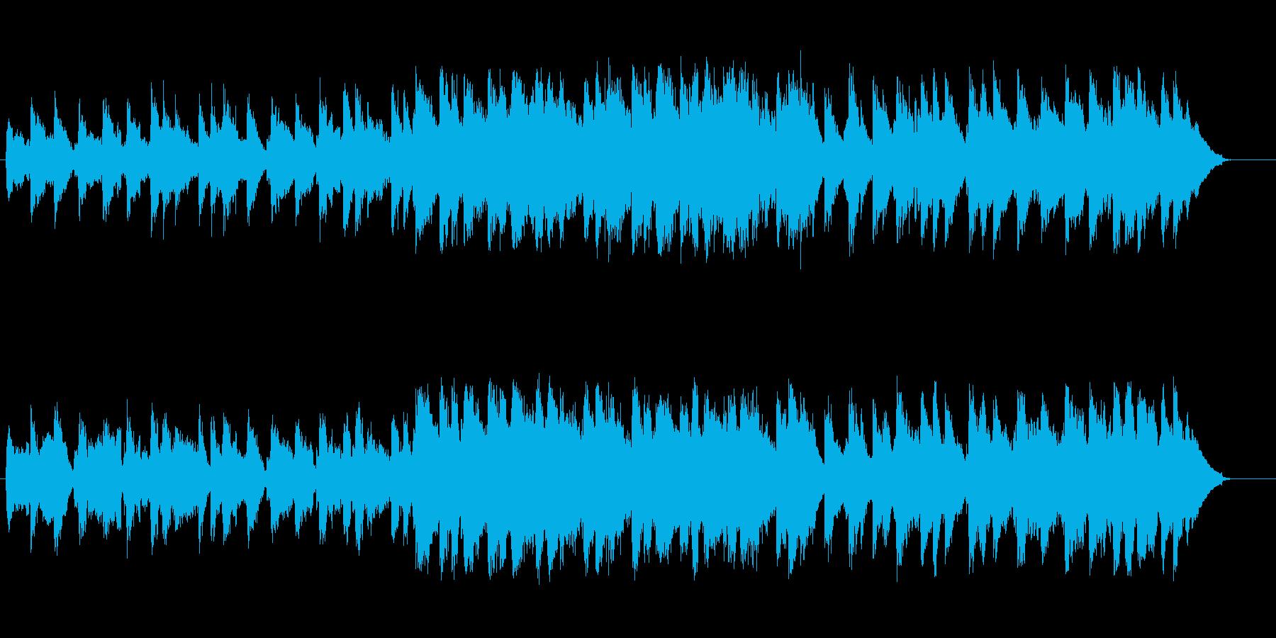 自然な優しい透明感の穏やかなBGMの再生済みの波形