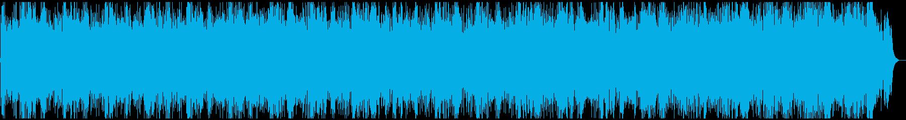 ゆったりとしたニューエイジ風のカノンの再生済みの波形