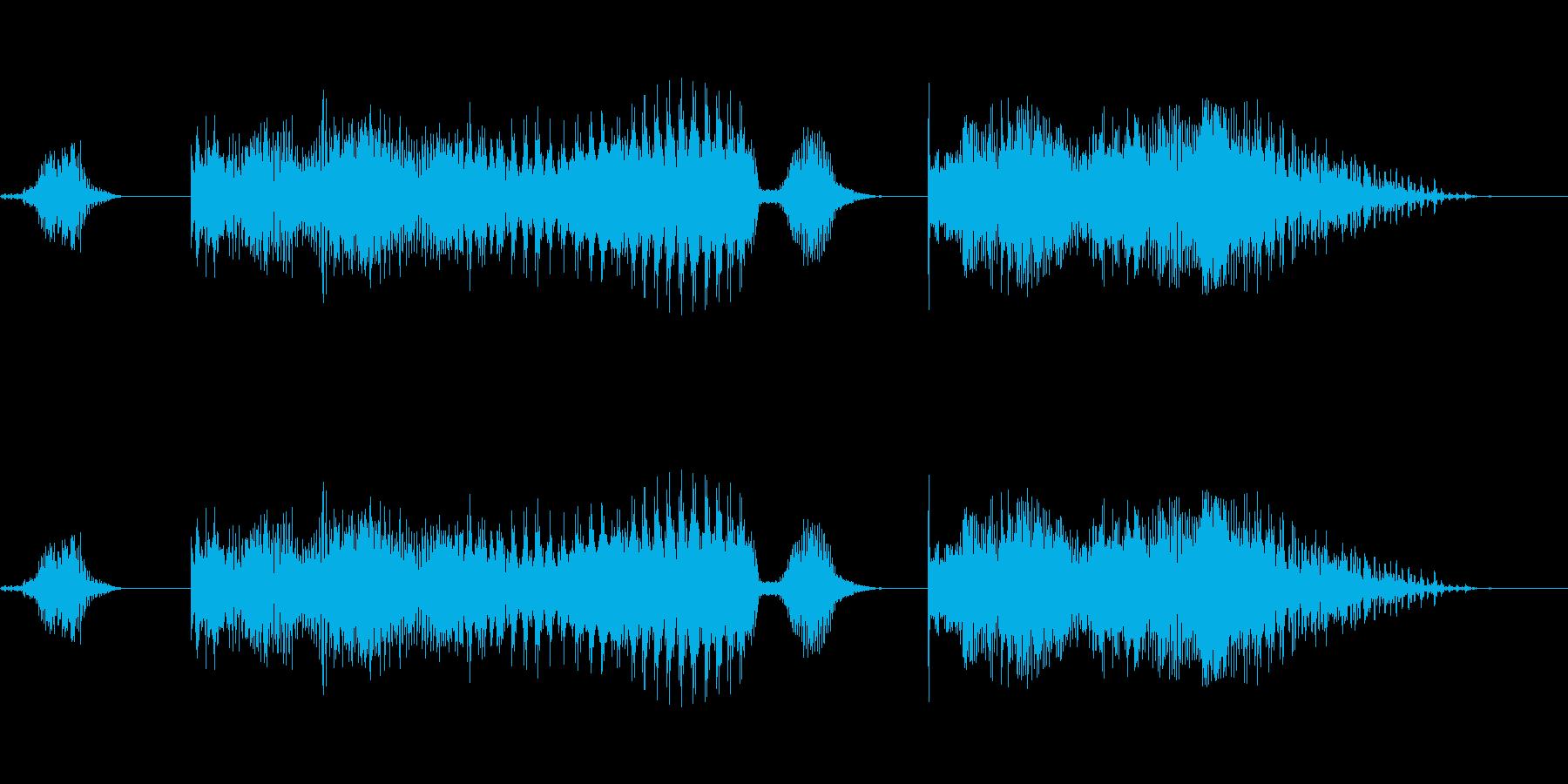 どっこいしょー!!×2 男性和風掛け声の再生済みの波形