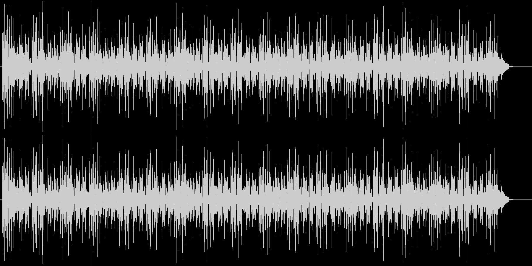 ミニマル シンプルなボサノバギター演奏の未再生の波形