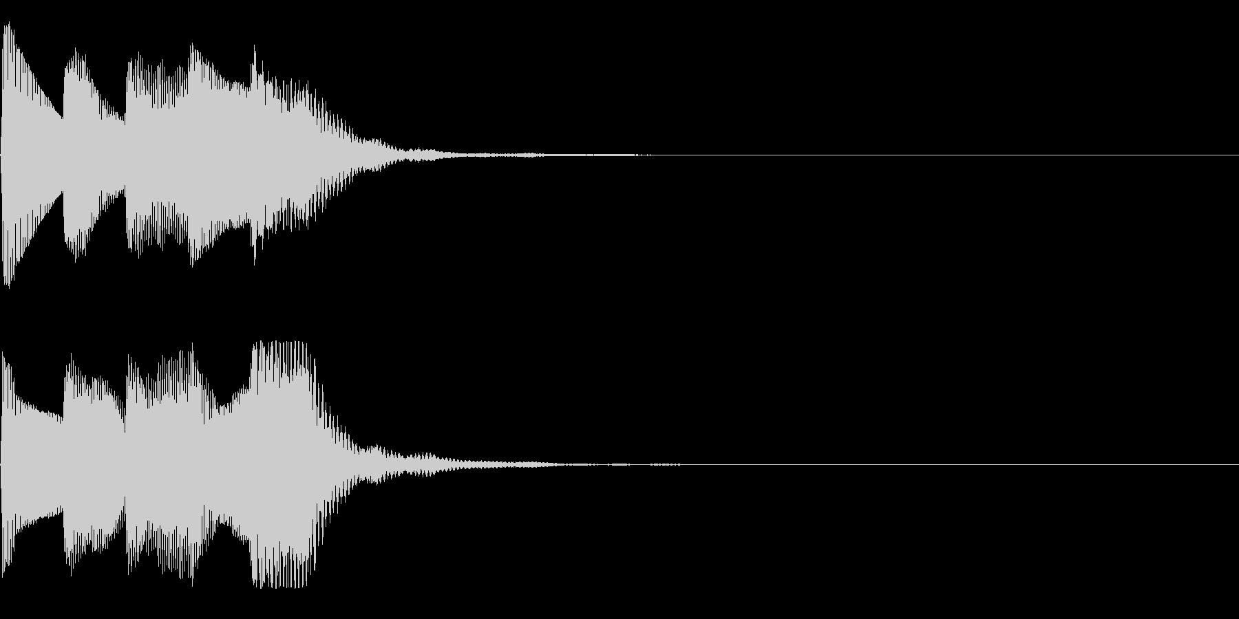 ゲームスタート音(シューティング)の未再生の波形