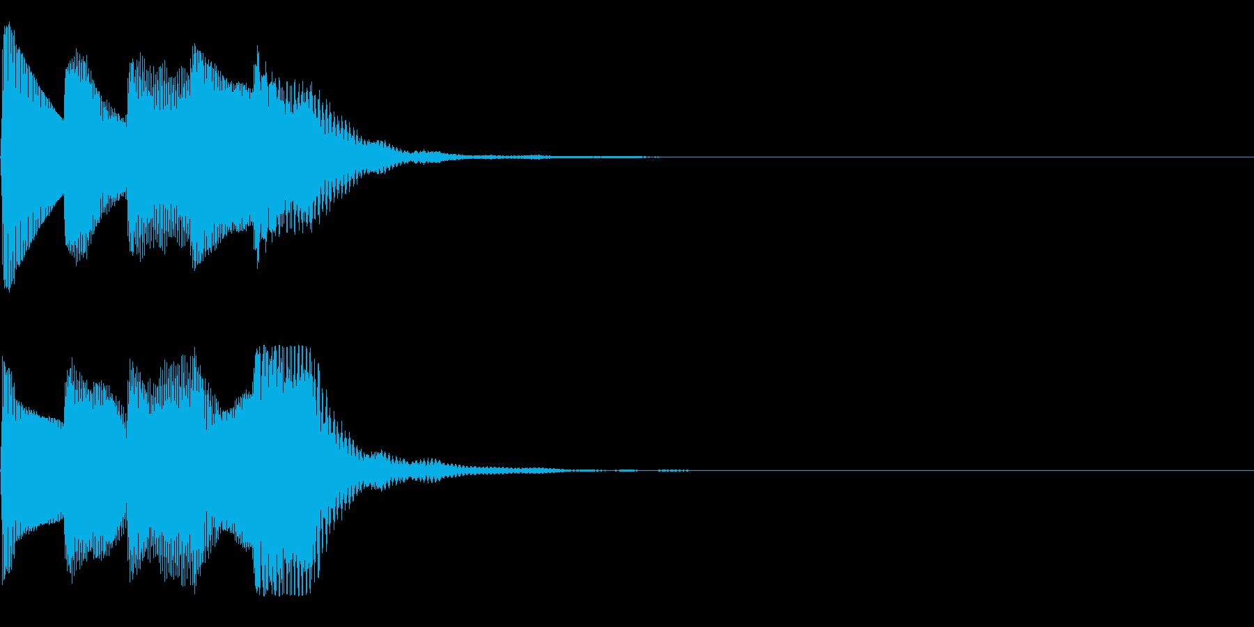 ゲームスタート音(シューティング)の再生済みの波形