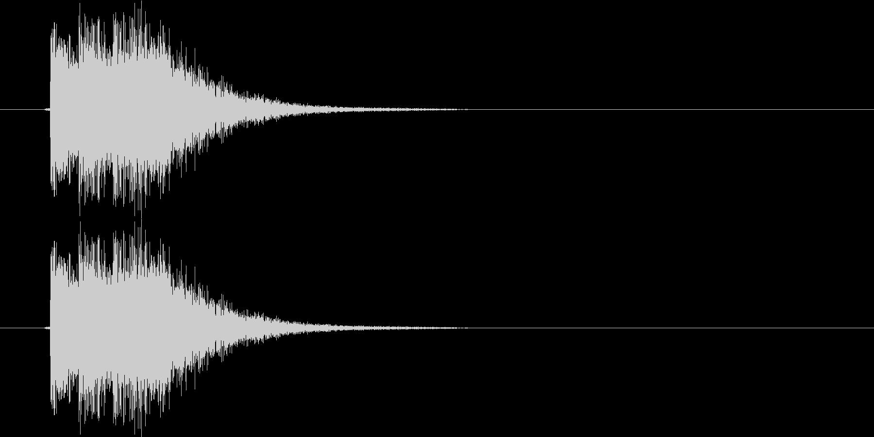 崩し、ヒット系(電子音)の未再生の波形