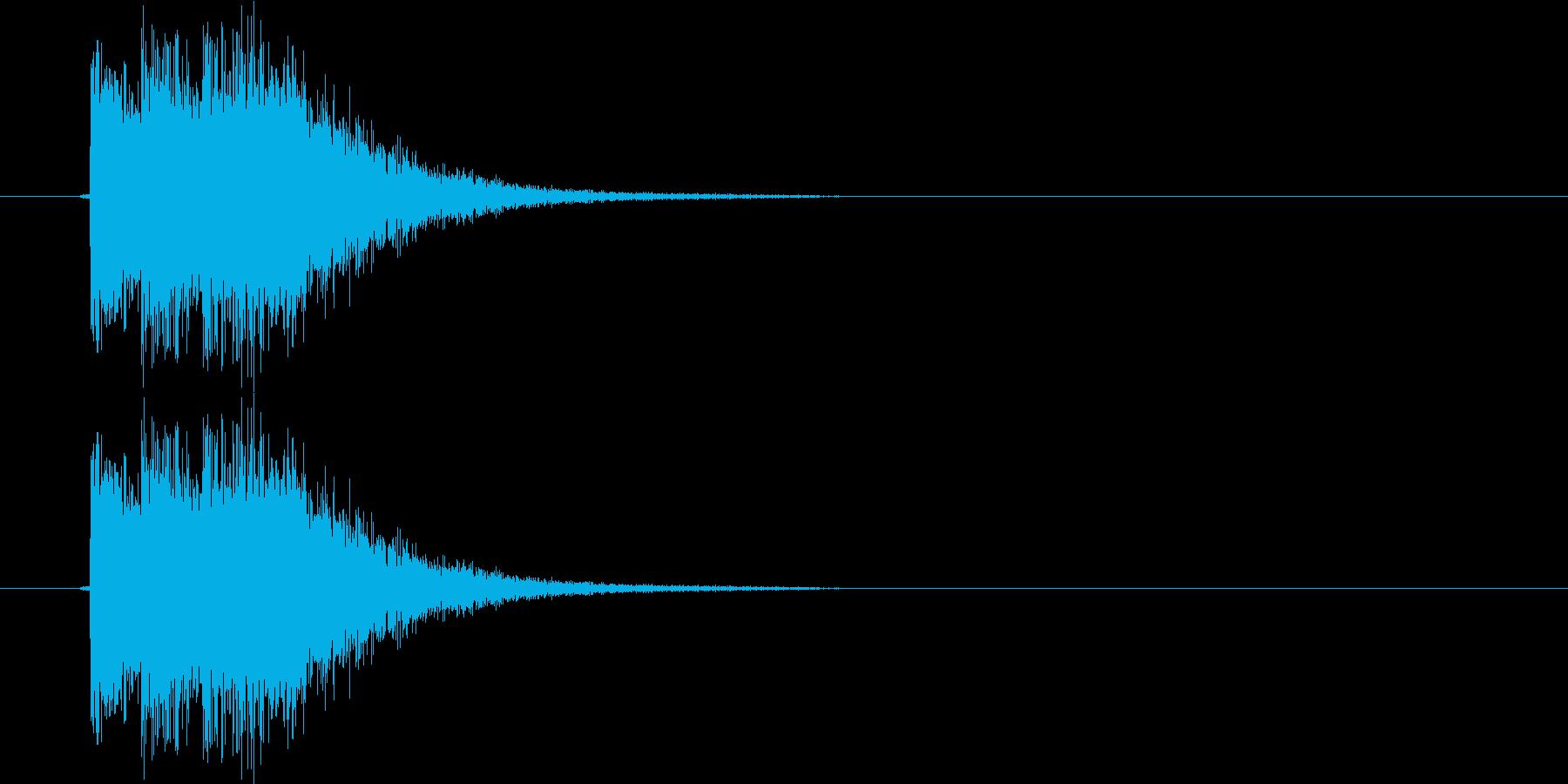 崩し、ヒット系(電子音)の再生済みの波形