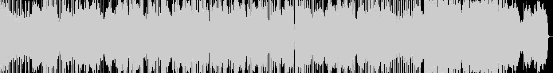 低音のピアノとシンプルかつ深いビートの未再生の波形