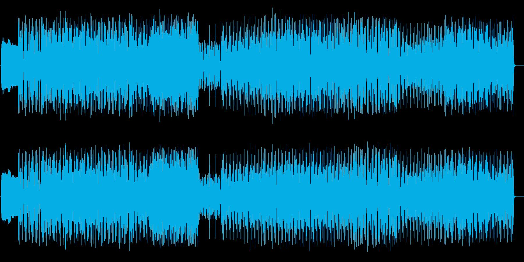 リズムが楽しいデジロックの再生済みの波形