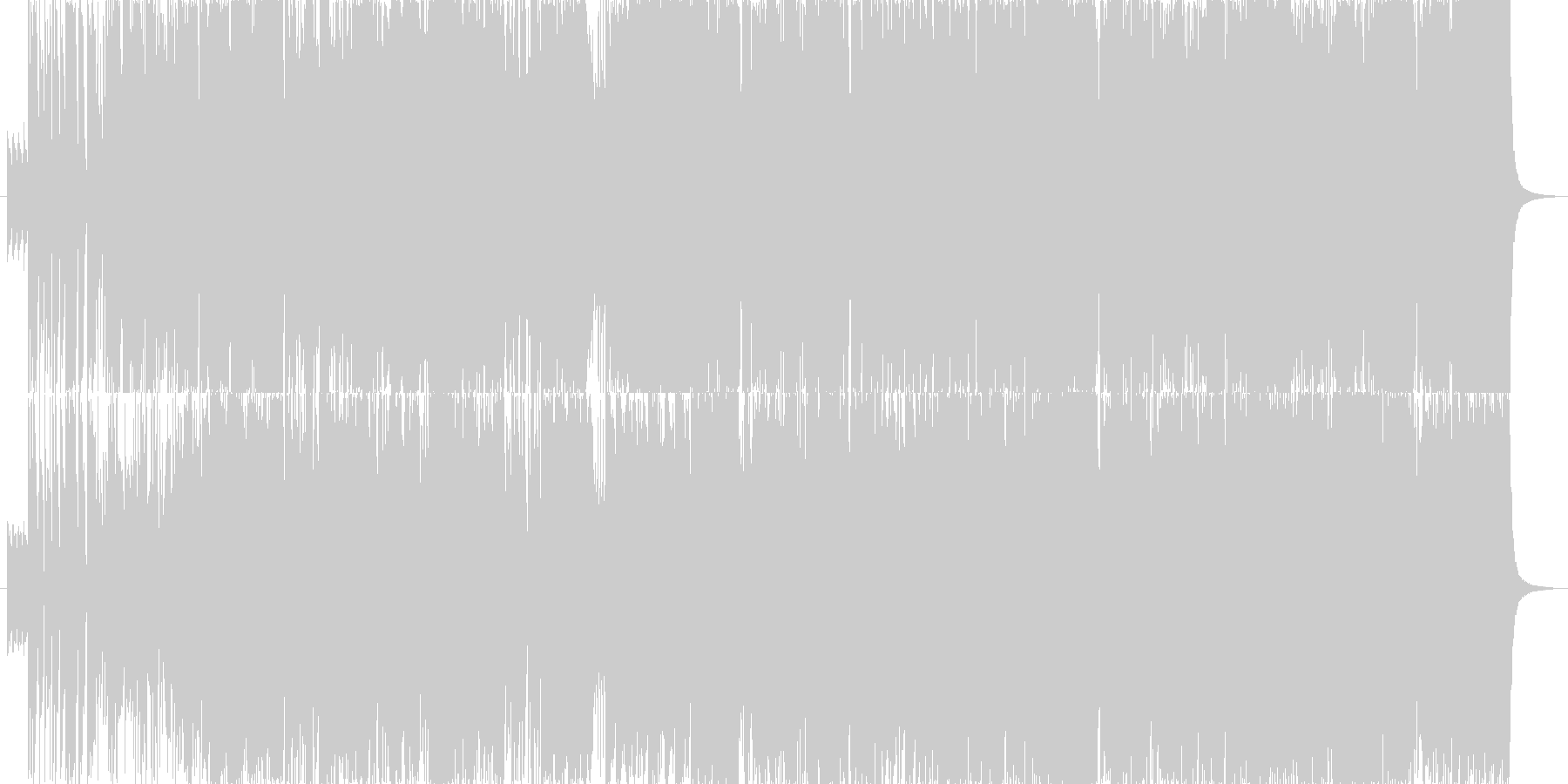 キレイでかっこいいロック管弦楽の未再生の波形