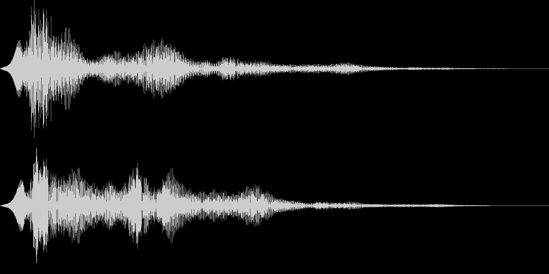 ぽわーん 空間系 サウンドロゴの未再生の波形
