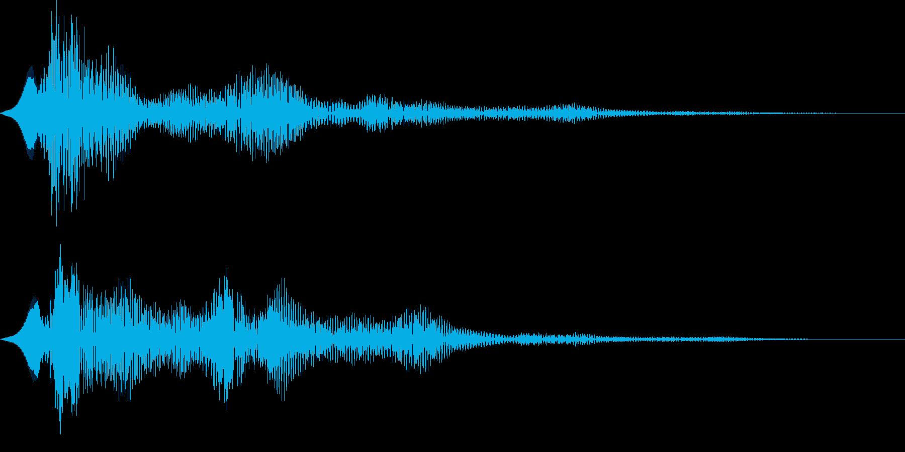 ぽわーん 空間系 サウンドロゴの再生済みの波形